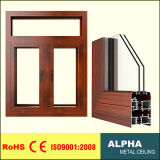 Aluminum and Double Glasses Insulation Casement Window Series 63