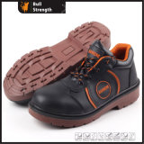 Smooth Action Leather Safety Shoe with Steel Toe (SN5149)