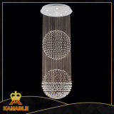 Modern Ceiling Double Ball Chandelier Crystal