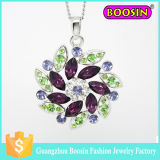 Wedding Silver Jewelry Set Alloy Infinity Crystal Charm Flower Necklace