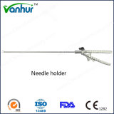 Surgical Instruments Laparoscopic Curved Needle Holder