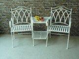 Antique Wrought Iron Single Seat Armrest Bench