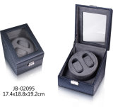 Mens PU Leather Case Automatic Display Showbox Watch Winder