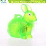 LED Flashing Sounding Lignt up Puffer Rabbit Spiky Ball