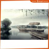 The Boat UV Printed Decoration Wall Painting with Lake Scenery
