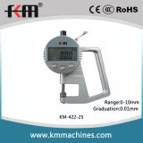 0-10mm Digital Thickness Gauge with 0.01mm Graduation and 15mm Throat Depth