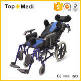 2017 Medical Equipment Foldable Reclining Cerebral Palsy Aluminum Wheelchair for Disable