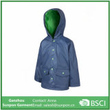 170t Polyester with PU Coating Raincoat for Kids