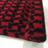 Black&Red Jacquard Swallow Gird Wool Fabric Stock