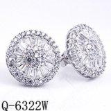 Fashion Jewelry 925 Silver Wedding Jewelry CZ Rarrings.
