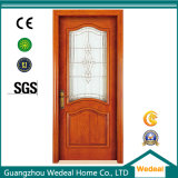 Composite Wooden PVC Laminated Toilet Door with Glasses