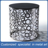 Factory Manufacture Silver Gray Column Stainless Steel Table Furniture