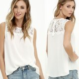 Loose Casual Lace Chiffon Sleeveless Vest Tank T-Shirt Tops Blouse