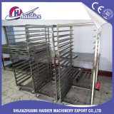 Stainless Steel 32 /16 Trays Cooling Baking Rack Trolley Frame with Wheels for Rotary Oven