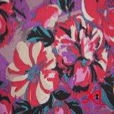 Polyester Print Dots Jacquard Chiffon Fabric for Garments