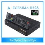 Newest TV Decoder Engima2 Linux Twin DVB S/S2 H. 265 Decoding Zgemma H5.2s