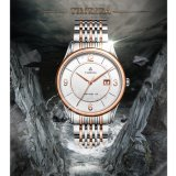 Rose Stainless Steel Mens Wrist Watch Classic Sapphire Crystal Chain Watch 72119