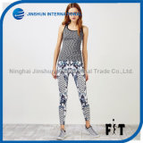 Women Workout Pants Camouflage Stripe Matching Leggings