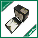 Clear PVC Window Paper Cake Gift Boxes