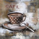 Modern 3 D Metal Painting for Cafe