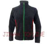 Children Black Cationic Micro Fleece Spandex Fiber Stitching Color Casual Jacket