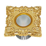 COB LED Downlight and Spotlight with Forged Brass Faceplate