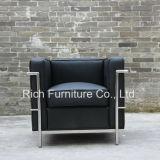 Italian Leather Stainless Steel Modern Design Hotel Sofa (LC2)