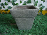 High Quality Decoration Fiberglass Flower Pot / Fiber Stone Planter