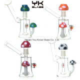 DAB Rig Glass Pipe 5′′ Water Pipes 14.5mm Joint Red Mushroom Glass Dome