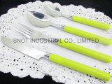 New Design Plastic Handle Stainless Steel Cutlery Flatware Spoon