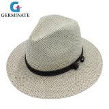 Fashion Paper Hat with PU Leater Crwon Band (Sh026)
