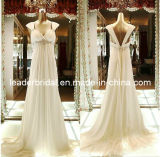 Cap Sleeves Wedding Gowns Jeweled Empire Maternity Bridal Wedding Dress M1442