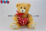 Valentines Day Gifts Plush Teddy Bear with Red Heart Pillow Bos1033-25