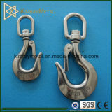 Stainless Steel Heavy Duty Swivel Hook with Safety Pin
