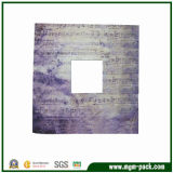 Square Wooden Picture Frame with Note Patterns