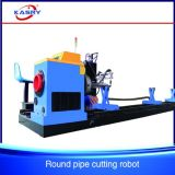 Round Pipe Intersecting Cutting Machine/CNC Plasma Steel Tube Groove Cutter