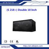 Wide Varieties (S 218+) Double 18 Inch Audio Professional Speaker Subwoofer