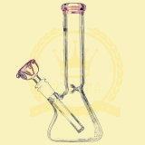 10inch Color Smoking Klein Recycler Pink Canada Popular Replaceable Beaker Bigger Size Glass Smoking Water Pipe