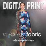 Women′s Fashion Print Viscose Fabric (YC185)