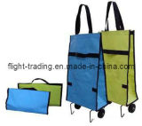 Folded Trolley Bag with Wheels for Advertisement