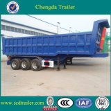 3 Axle 60ton Hydraulic Rear End Dump Tipper Tipping Trailer