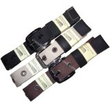 Plain Color Causual Men′s Fabric Belt with Alloy Buckle