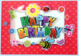 Custom Design Good Quality Lenticular Pet 3D Birthday Cards