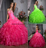 Sweetheart Ball Gowns Beads Organza Ruffles Quinceanera Dresses Z3016