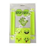Customized Reflective Slap Band and PVC Sticker