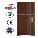 Popular Europ Security Metal MDF Wood Veneer Armored Door (W-A4)