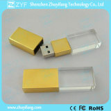 Golden Metal Cap Crystal 8GB Flash Drive (ZYF1512)