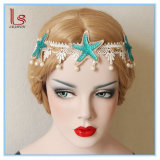 Blue Star and Pearl Lace Headbands Hair Accessories