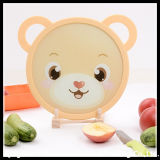 Round Tempered Glass Cutting Board with Silicone Ring