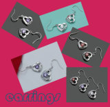 Fashion OEM Jewelry Heart-Shaped Earrings